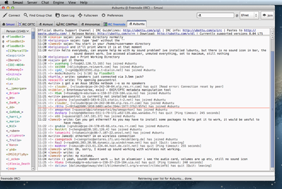 Screenshot of Smuxi on Mac OS X