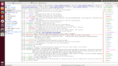 Screenshot of Smuxi 0.10 on Ubuntu Unity