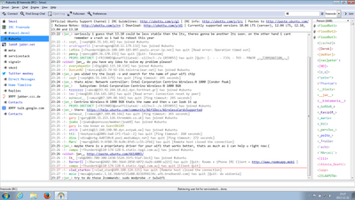 Screenshot of Smuxi 0.10 on Windows 7