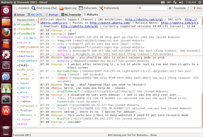 Screenshot of Smuxi 0.8.11 on Ubuntu Unity