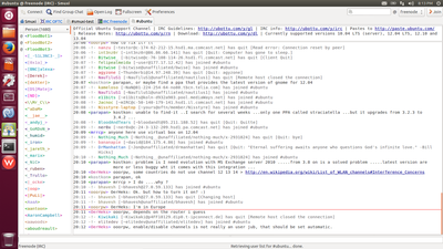 Screenshot of Smuxi 0.9 on Ubuntu Unity